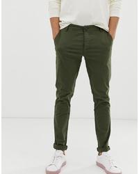 Оливковые брюки чинос от Selected Homme
