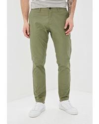 Оливковые брюки чинос от Sisley