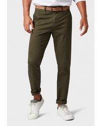 Оливковые брюки чинос от Tom Tailor Denim