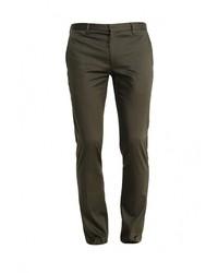 Оливковые брюки чинос от Topman