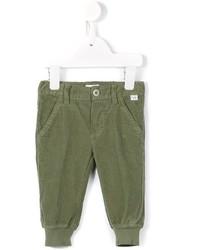 Детские оливковые брюки для мальчику от Il Gufo