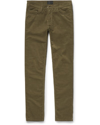 Мужские оливковые вельветовые джинсы от Acne Studios