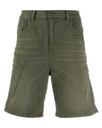 Мужские оливковые джинсовые шорты от Diesel