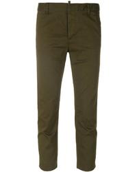 Женские оливковые классические брюки от Dsquared2