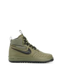 Мужские оливковые кожаные высокие кеды от Nike