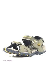 Мужские оливковые кожаные сандалии от Ascot