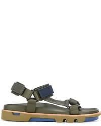 Мужские оливковые кожаные сандалии от Emporio Armani