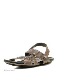 Мужские оливковые кожаные сандалии от Goergo