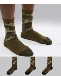 Мужские оливковые носки с камуфляжным принтом от Nike Training