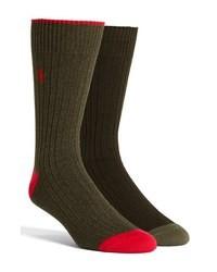 Оливковые носки