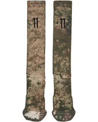 Мужские оливковые носки от 11 By Boris Bidjan Saberi