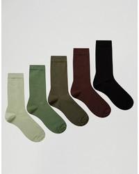 Мужские оливковые носки от Asos