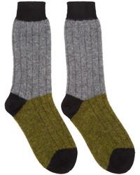 Мужские оливковые носки от Haider Ackermann