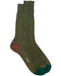 Мужские оливковые носки от Paul Smith