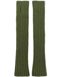 Мужские оливковые перчатки от Balmain