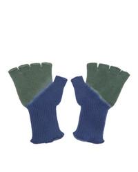Мужские оливковые перчатки от The Elder Statesman