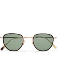 Мужские оливковые солнцезащитные очки от Mr Leight