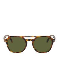 Мужские оливковые солнцезащитные очки от Persol