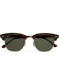 Мужские оливковые солнцезащитные очки от Ray-Ban