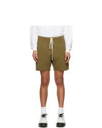 Оливковые спортивные шорты