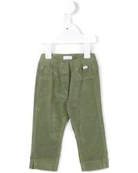 Детские оливковые спортивные штаны для девочке от Il Gufo