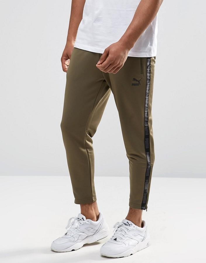 5fe7af1da1ce Мужские оливковые спортивные штаны от Puma   Где купить и с чем носить