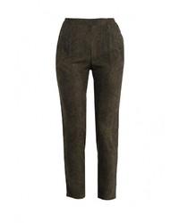 Женские оливковые узкие брюки от Sela