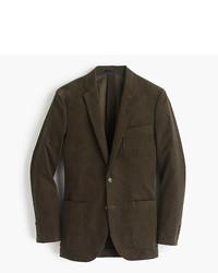 Оливковый вельветовый пиджак