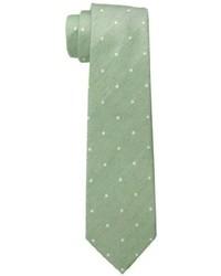 Оливковый галстук в горошек