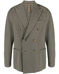 Мужской оливковый двубортный пиджак от Eleventy