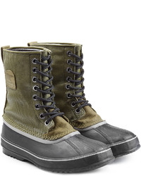 Оливковый зимние ботинки