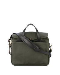 Оливковый кожаный портфель