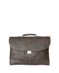 Оливковый кожаный портфель от Carlo Gattini