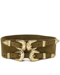 Женский оливковый кожаный ремень от B-Low the Belt