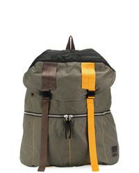 Оливковый кожаный рюкзак