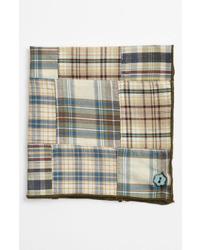Оливковый нагрудный платок в шотландскую клетку