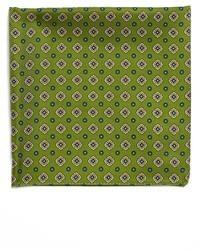 Оливковый нагрудный платок с принтом