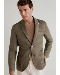 Мужской оливковый пиджак от Mango Man