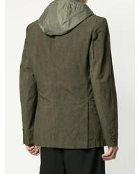 Мужской оливковый пиджак от Yohji Yamamoto