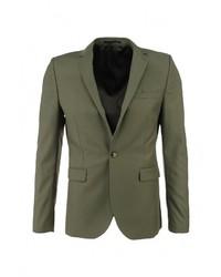 Мужской оливковый пиджак от Topman