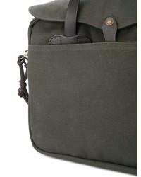 Оливковый портфель из плотной ткани от Filson