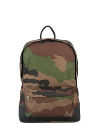 Оливковый рюкзак из плотной ткани с камуфляжным принтом