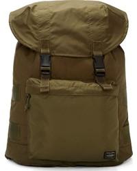 Оливковый рюкзак из плотной ткани