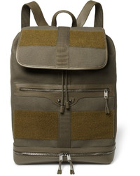 Мужской оливковый рюкзак из плотной ткани от Balenciaga