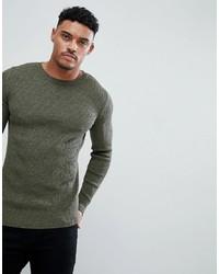 Мужской оливковый свитер с круглым вырезом от ASOS DESIGN
