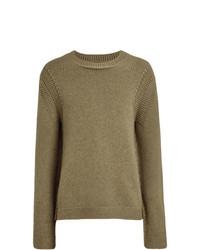 Мужской оливковый свитер с круглым вырезом от Burberry