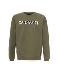 Мужской оливковый свитер с круглым вырезом от Carhartt