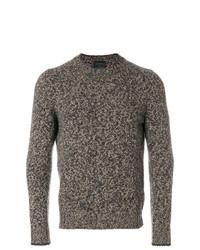 Мужской оливковый свитер с круглым вырезом от Dell'oglio