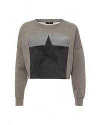 Женский оливковый свитер с круглым вырезом от Diesel