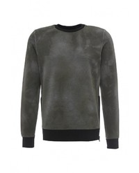 Мужской оливковый свитер с круглым вырезом от Diesel